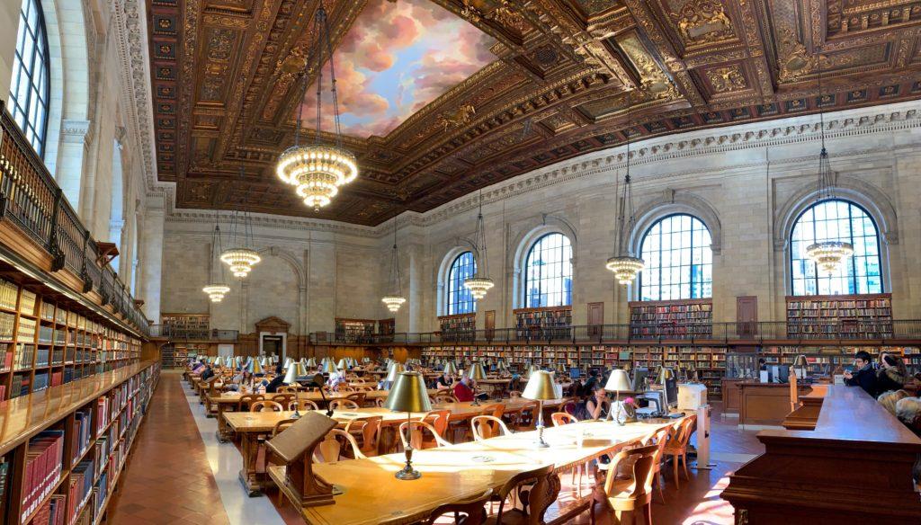 Interno biblioteca New York Public Library