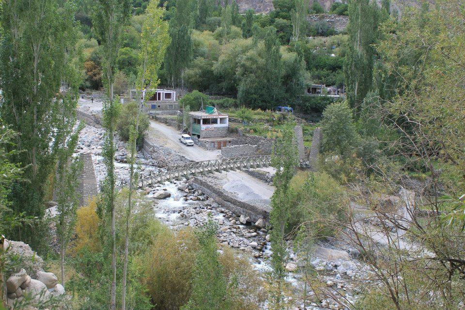 ponte per raggiungere il villaggio di Turtuk
