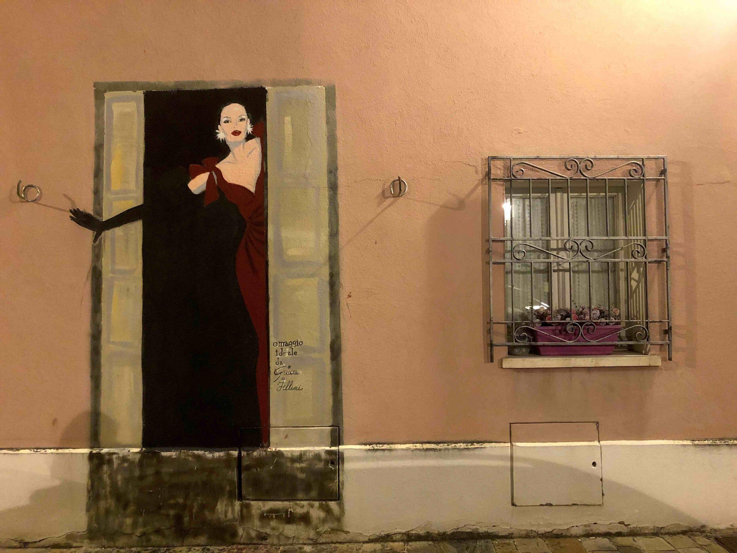 Borgo San Giuliano Murales Fellini