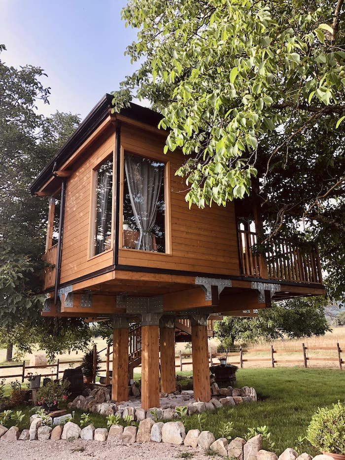 casa sull'albero esterno
