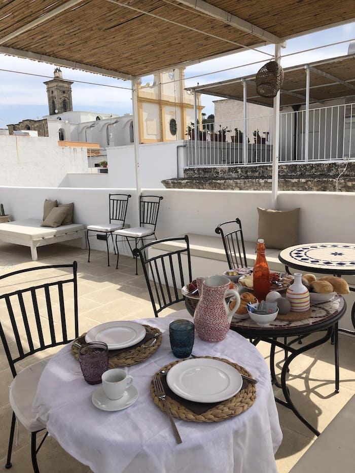 colazione terrazzo palais gentile