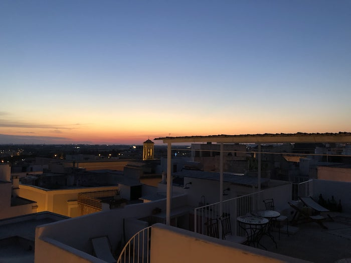 tramonto terrazzi matino